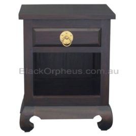 Oriental Bedside Table Timber