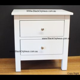 Bedside Table White Lily. W51xH53cm.