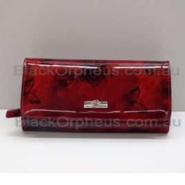 Serenade Wallet Patent Leather Cherry Roses