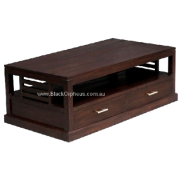 Coffee Table Slatted Sides Timber