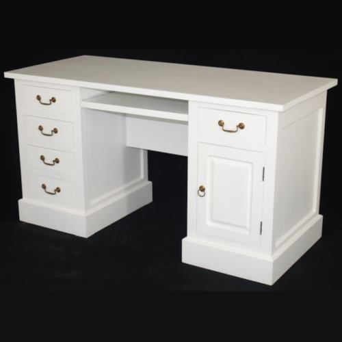Desk White With Drawers W150xD65xH80
