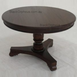 Round Pedestal Dining Table. Timber. W.120xH.78.cm