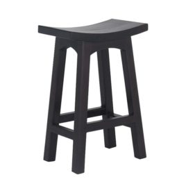Solid Mahogany 67 cm Chocolate Barstool Commercial Grade