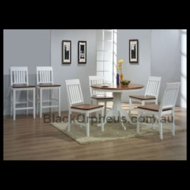 Brenna 5 Piece Dining Setting 2 Tone white
