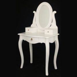 Dressing Table with Mirror White.