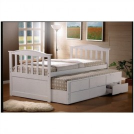 Single Bed White Captains