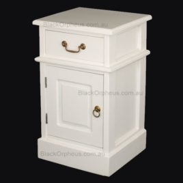 Bedside Table White H62cm.