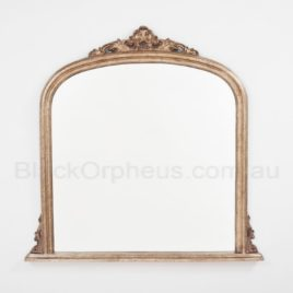 Domed Rustic Gold Mirror