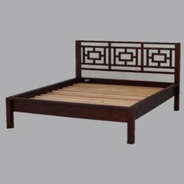 Oriental Timber Bed Queen Size