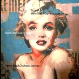 Marilyn Monroe Photo Art Print Canvas Aqua