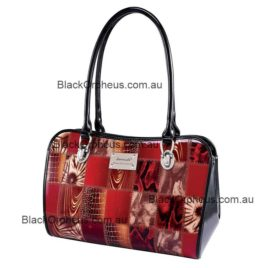 Leather Patch Print Serenade Shoulder Bag