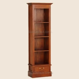 Narrow Timber Bookcase