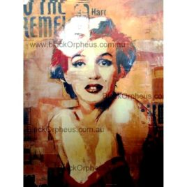 Marilyn Monroe Photo Art Print Canvas Red