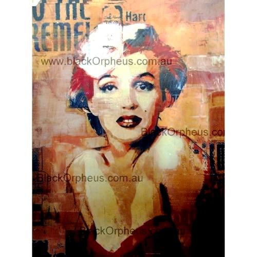 Marilyn Monroe Photo Art Print Canvas Red