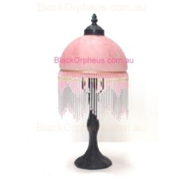 Victorian Bead Lamp Pink