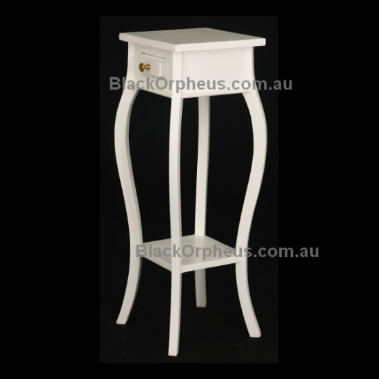 1 Drawer Cabriole Leg Plant Stand