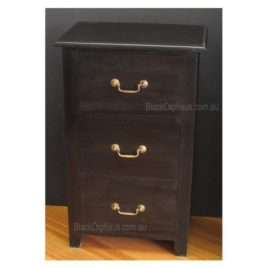 Bedside Timber 3 Drawer Chocolate LT 003 PN