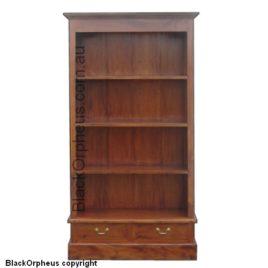 Bookcase 2 Drawer Mahogany