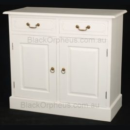 White Buffet 2 Drawer 2 Door