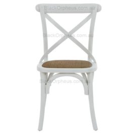 Cross Back Chair White