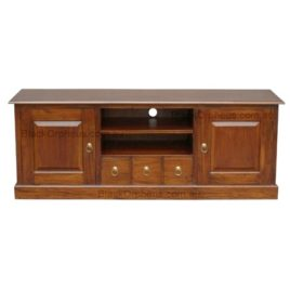 Entertainment Unit 2 Solid Door 3 Drawer