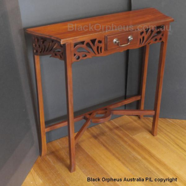 Entrance hall tables small 82cm black orpheus for Entrance hall console tables