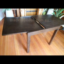 Extension Dining Table Chocolate Brown