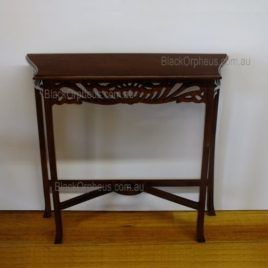 Hall Table Narrow Carved Table