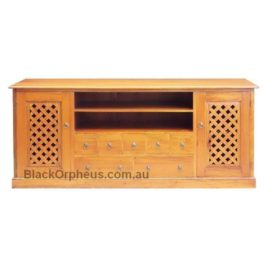 Java Entertainment Unit Mahogany L180cm x D55 cm x H80cm
