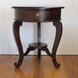 La Verde Cabriole Leg 1 Drawer Lamp Table