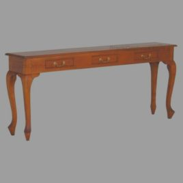Narrow Hall Table Curved Leg