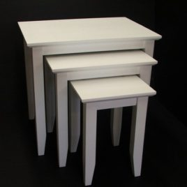 Nest 3 Tables White Hardwood