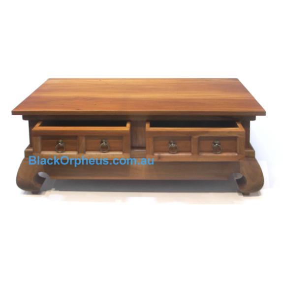 Opium Leg Coffee Table Rectangular 4 Drawer