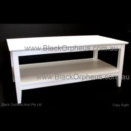 White Coffee table with drawer