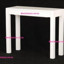 Hall Table 1 Drawer White W90xD35cm
