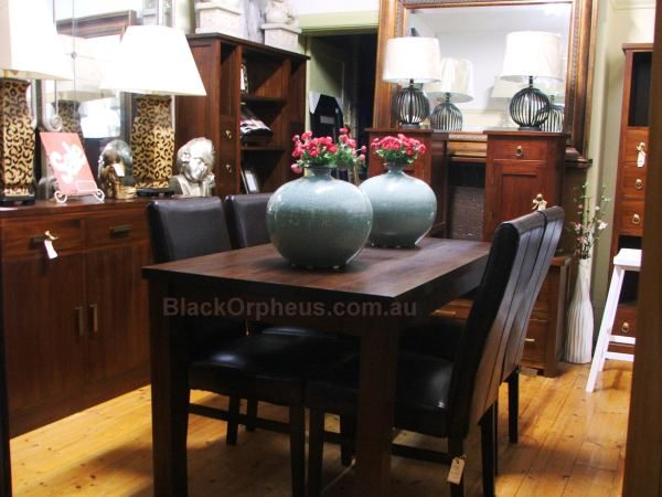 Small Dining Tables Chocolate & Small Dining Tables Blond Teak - Black Orpheus
