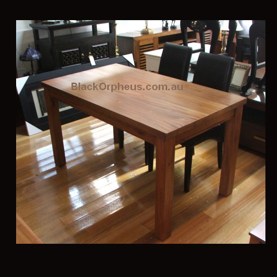 Small Dining Tables Blond Teak Black Orpheus
