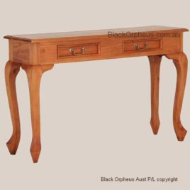 Sofa Table Cabriole Leg Mahogany