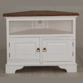 Corner TV Unit White Timber top