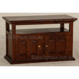 TV Unit Mahogany Compact