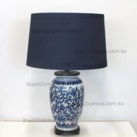 Blue and White Ceramic Lamp H 65cm.