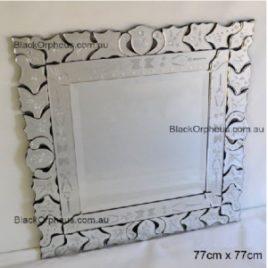 Venetian Wall Mirror Full Crown 77 x 77cm