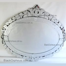 Venetian Wall Mirror Oval 118 x 108