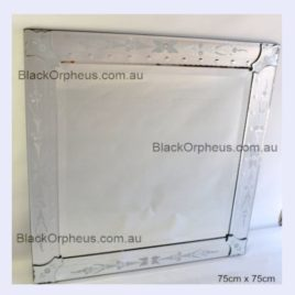 Venetian Wall Mirror Plain Square. 75 x 75