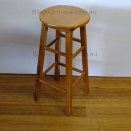 Wood Stool Round H74cm Oak