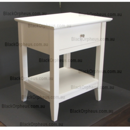 Bedside Table, Quad White.