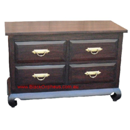 Low 4 Drawer Dresser Opium Leg