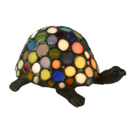Turtle Lamp Multi Coloured Tiffany Shade.