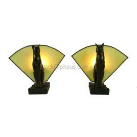 Art Deco Cat Lamps