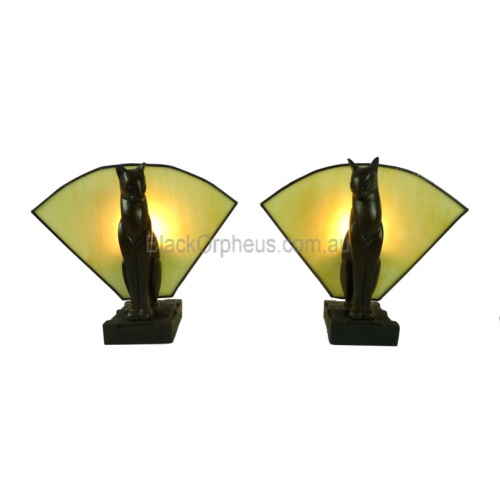 Cat Lamps Left Amp Right H 20cm Black Orpheus